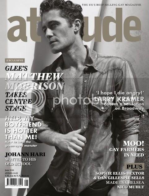 matthew morrison di glee sul magazine gay attitude