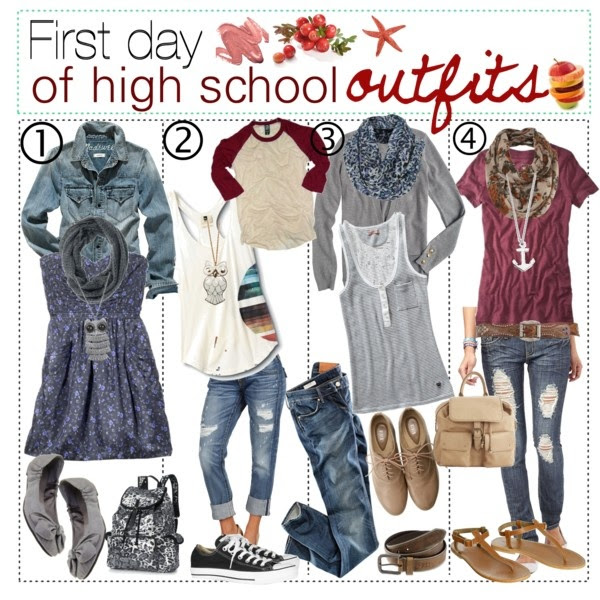 cute outfits for school for girls high school