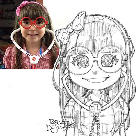artist turns strangers  anime characters bored