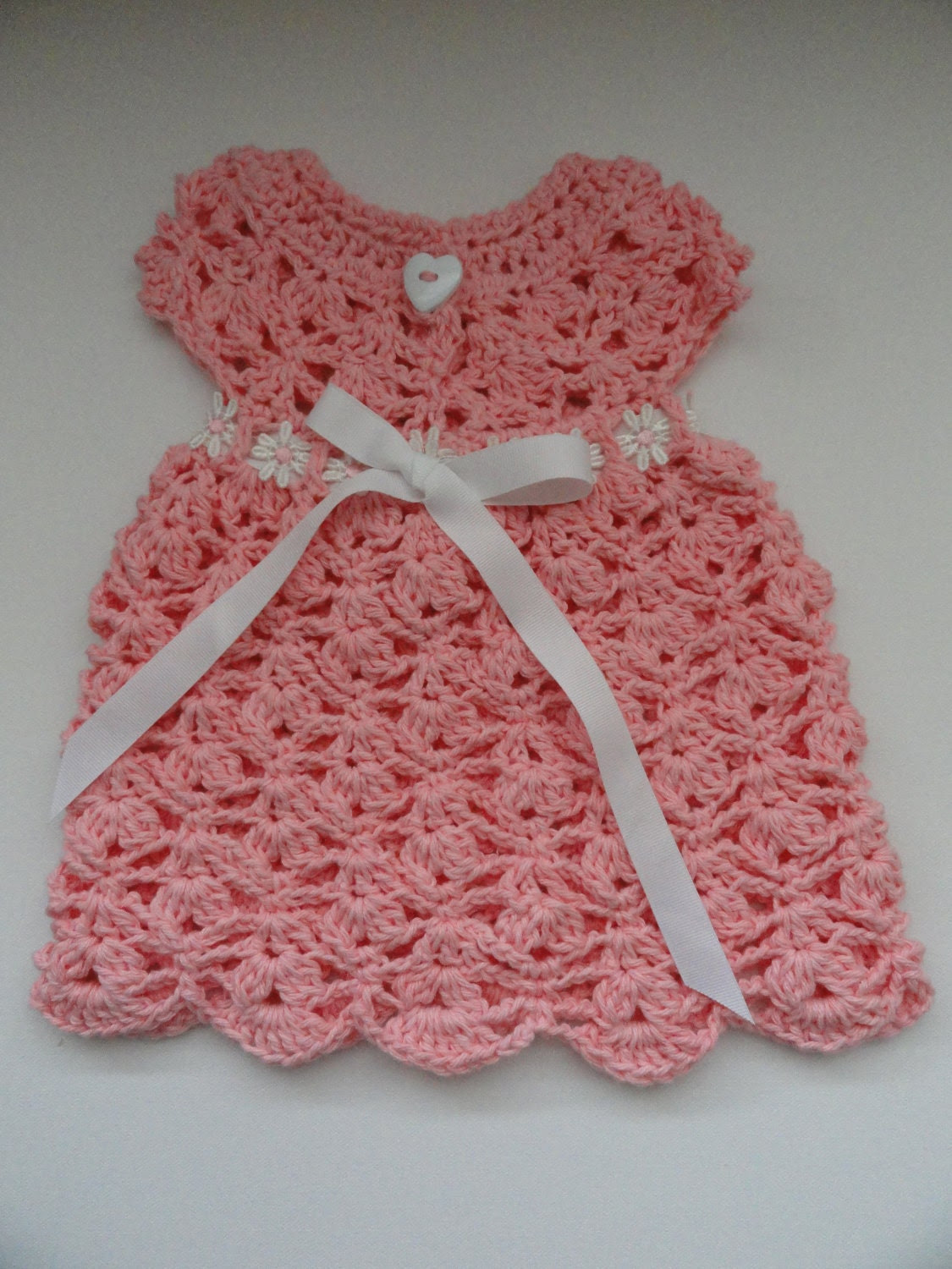 Fast and Easy Cluster Dress Crochet Pattern Sizes Newborn and 0-3 Months