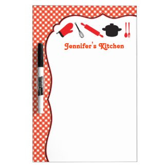 Kitchen Utensils Dry Erase Board