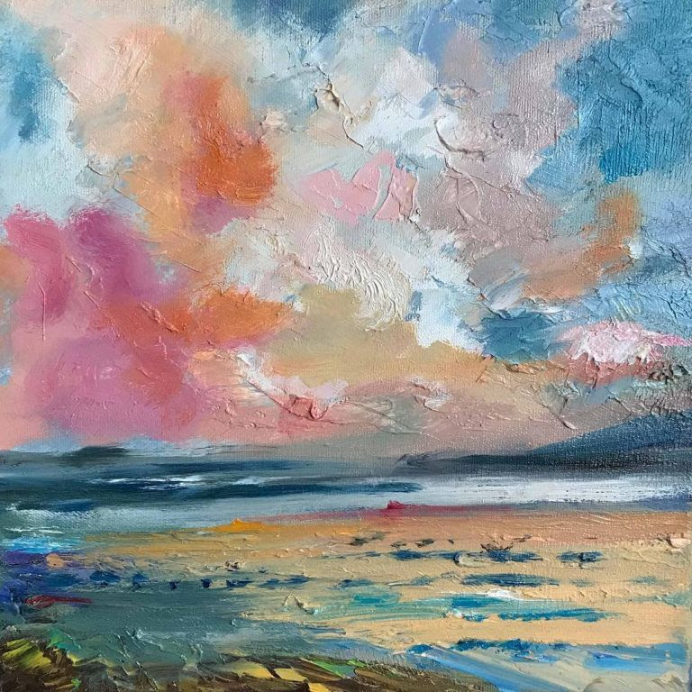 Calm Sea by Idil Güral, Oil Painting