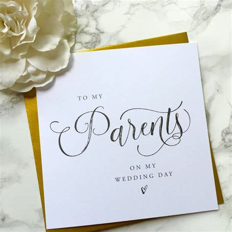 to my parents on my wedding day by sweet pea sunday