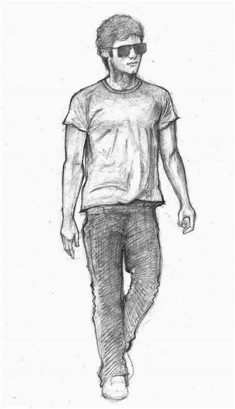 walking man drawing   clip art
