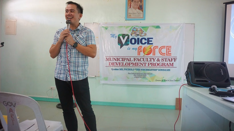 The VoiceMaster Speaks at My Voice is My Force