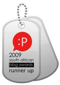 2009 SA Blog Awards Runner Up