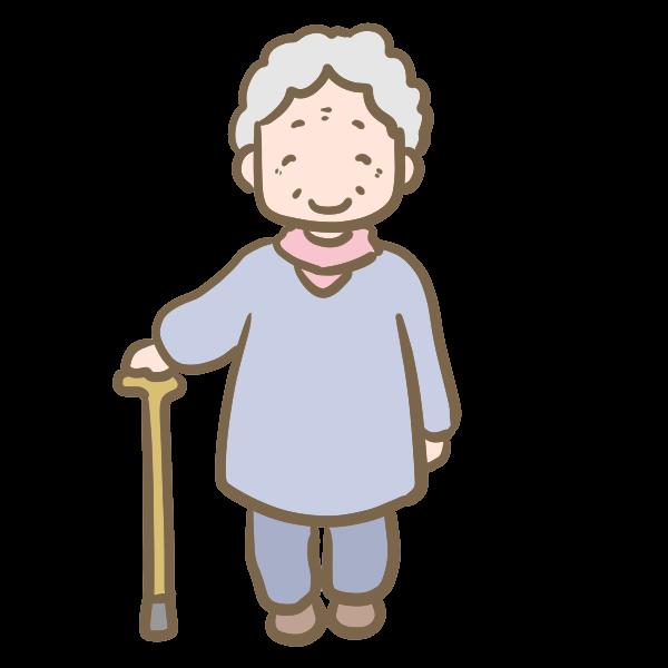年老いたおばあちゃんのイラスト かわいいフリー素材が無料の