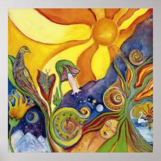 Sunshine Dream Fantasy Psychedelic Pop Art Poster