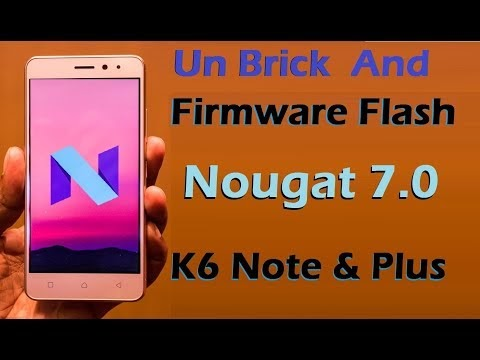 Lenovo K6 Note and K6 Plus (K53a48) Stock Firmware Flash with Nougat