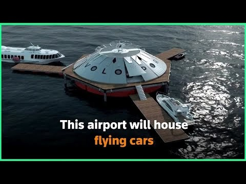 They are building an airport for landing and taking off of air taxis in Great Britain (VIDEO)