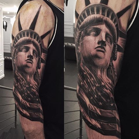 Man Sleeve Statue Of Liberty Tattoo Parryzcom