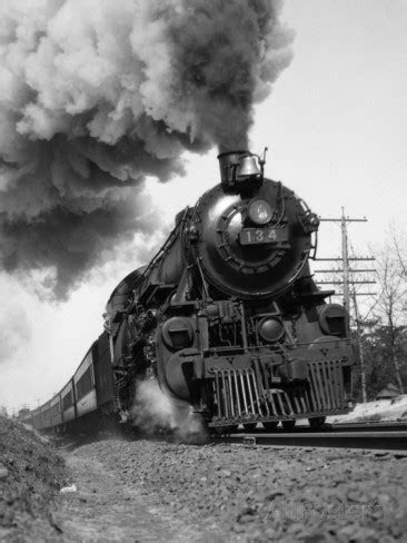 1920s-1930s Steam Engine Pulling Passenger Train Smoke