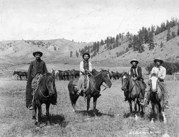 Texas Cattle Drive circa 1880