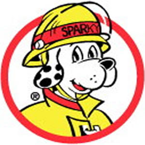 fire safety clipart Sparky