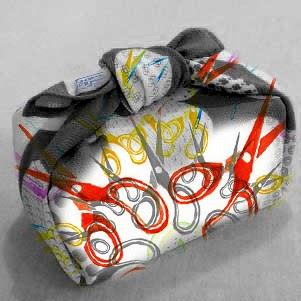 Furoshiki Eco Gift Wrap Using Scarves Venusian Glow