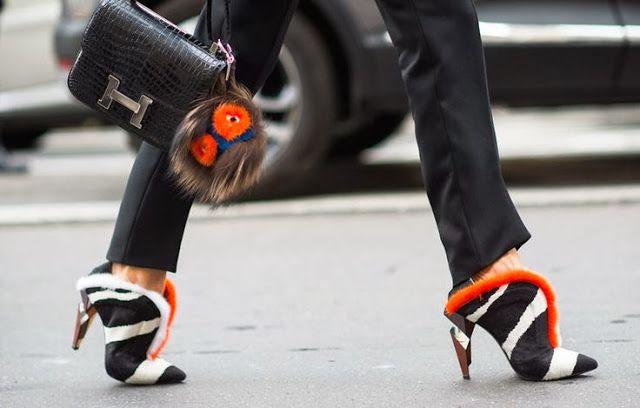 Hermès crocodile Constance with Fendi heels