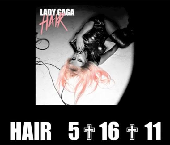 lady gaga hair single cover. Lady GaGa, Hair