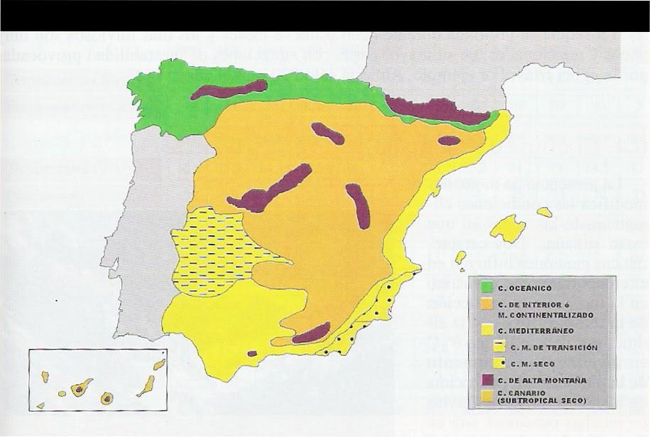 Ya estamos en tercero tema 9 for Clima mediterraneo de interior