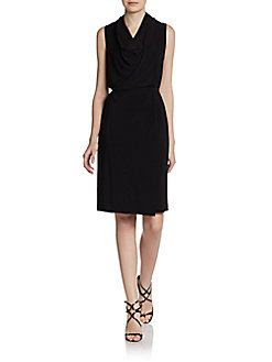 Josie Natori Jersey Cowlneck Dress