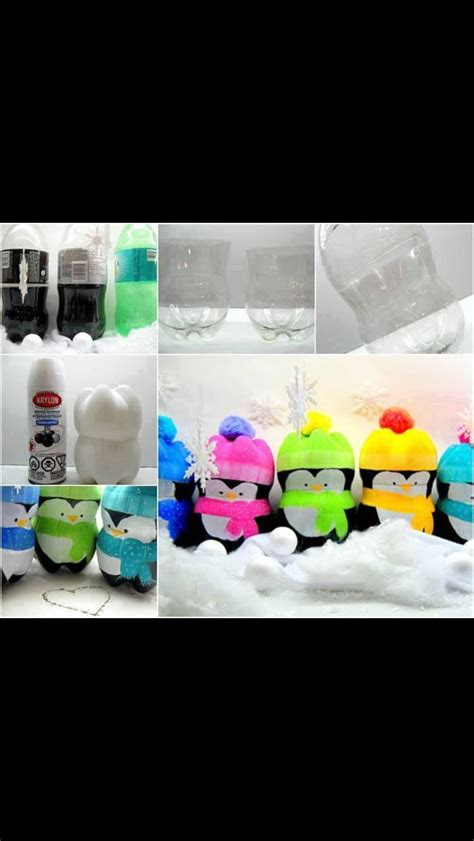 liter penguins bottle crafts plastic bottle crafts