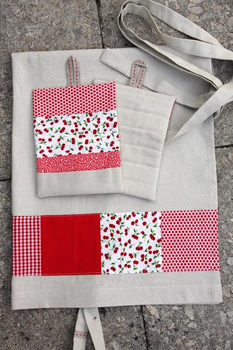 Apron and potholders