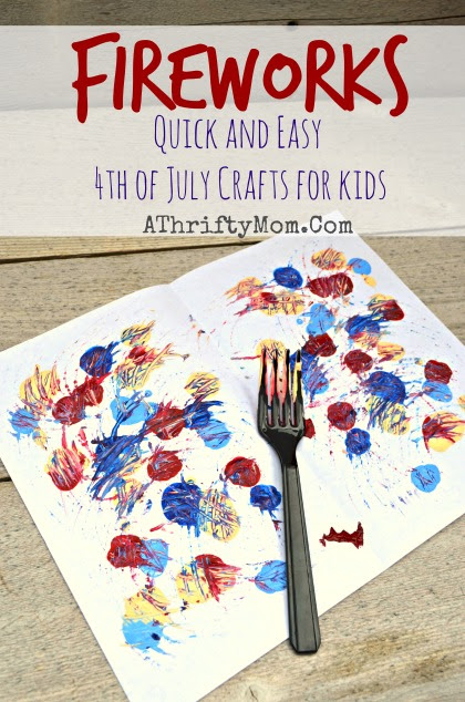 Painted Fireworks Quick And Easy 4th Of July Craft Ideas A
