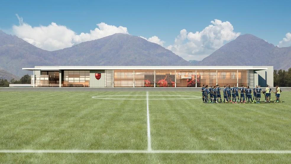 Projeto do novo módulo profissional do Flamengo (Foto: GloboEsporte.com)