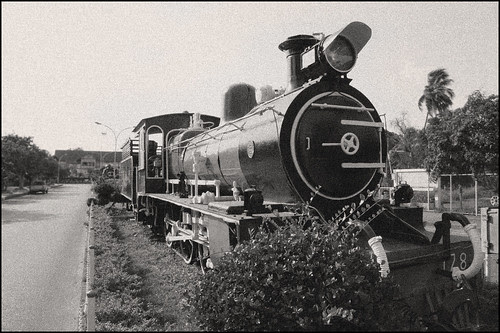 Old Train at Chumphon, Thailand