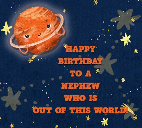 Happy Birthday Nephew, Outer Space. Free Extended Family