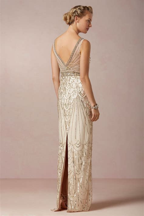 Maxine Gown BHLDN $800.00 :: 1920s Art Deco Great Gatsby