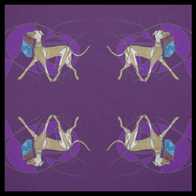 Gone Shopping, Art Deco Italian Greyhound Mirrored Fabric