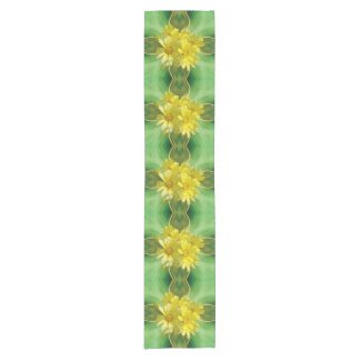 Radiant Yellow Daisies Short Table Runner
