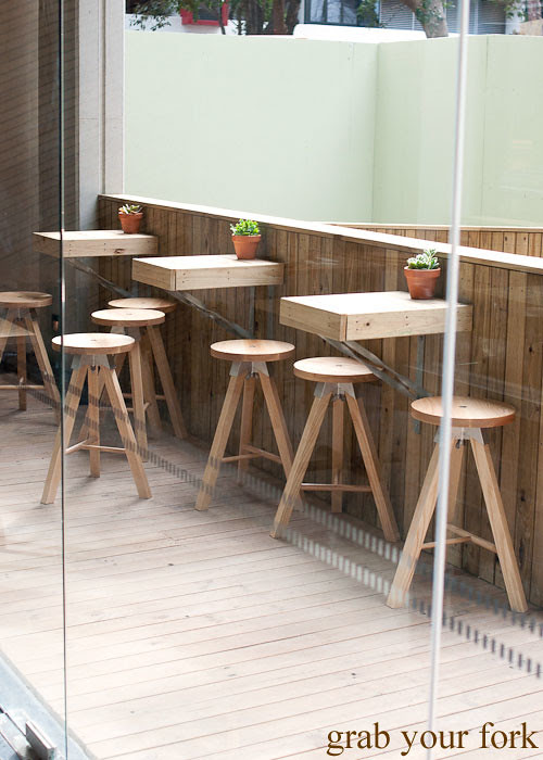 balcony seating at the stables cafe surry hills