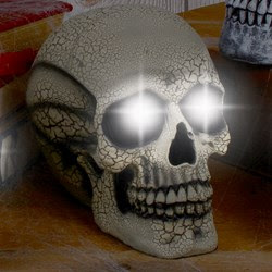 Large Strobe Skull - Yellow Cracked