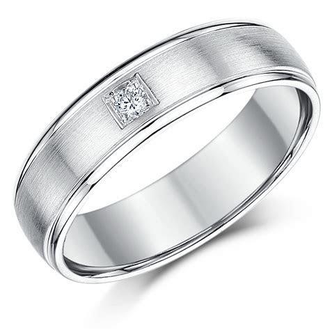 6mm Sterling Silver Diamond Wedding Band   Sterling Silver