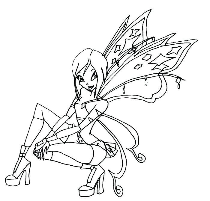 The Best Free Winx Coloring Page Images Download From 312 Free