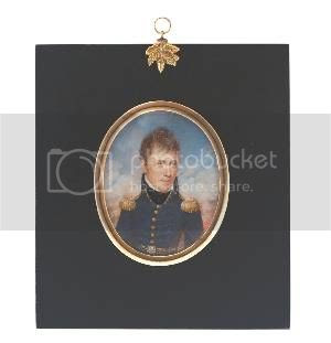 oval miniature portrait of Andrew Jackson by Anna Claypoole Peale