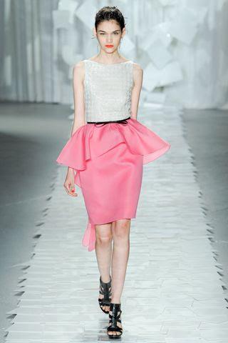 Jason Wu Spring 2012 RTW - Isabella Melo - peplum skirt