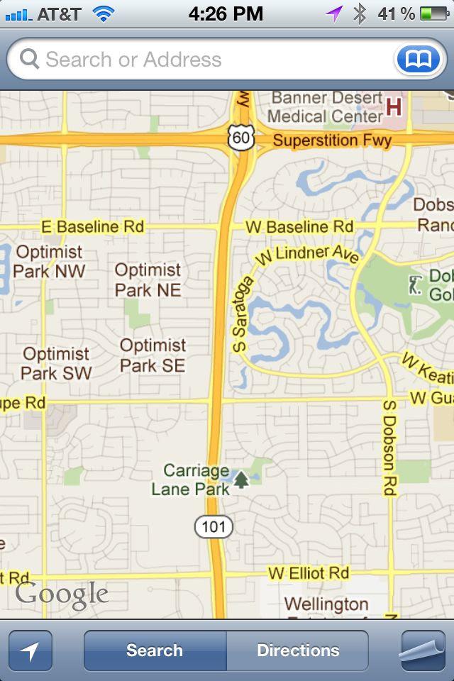 Google Tempe Map