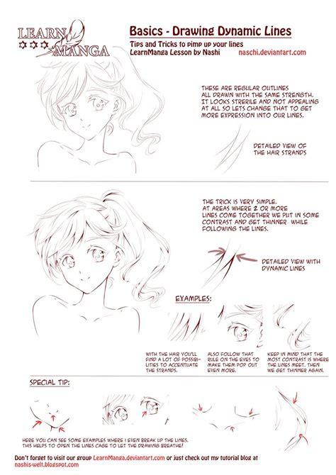 learn manga dynamic lines  naschi  deviantart art