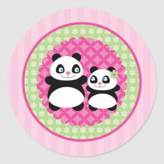 Girl Panda Bear Sticker sticker