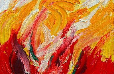 Abstraction Rouge Essai 9 Peinture Acrylique Photographies