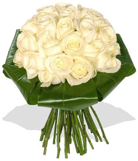 WHITE ROSE AND BAY LEAF FLORAL ARRANGEMENT   Mass of White