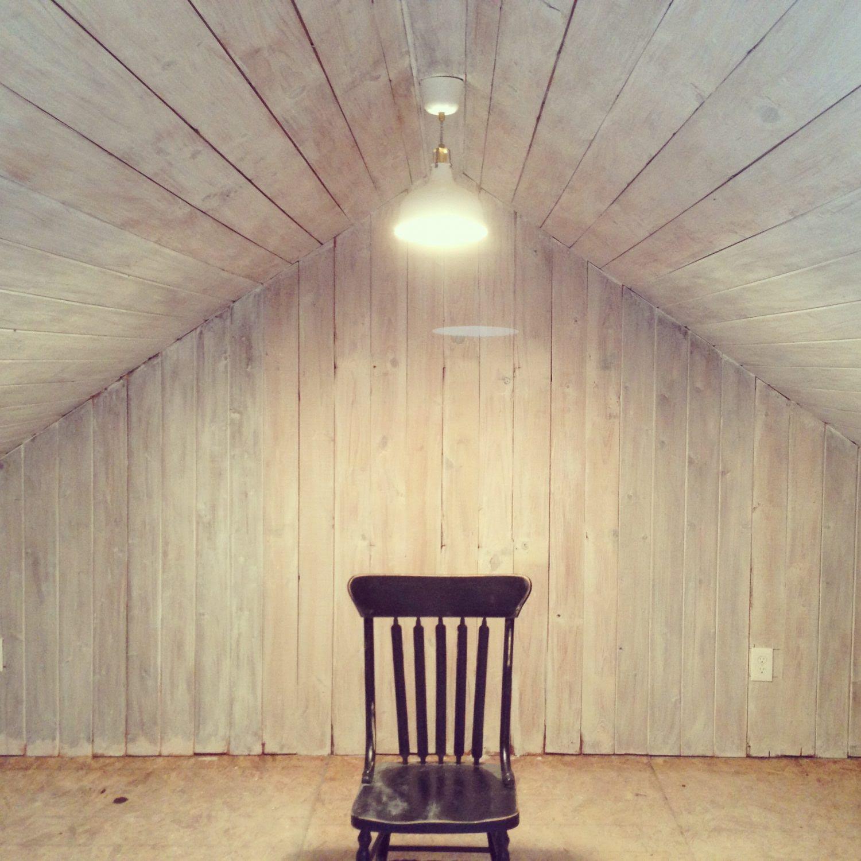 whitewashed attic insta