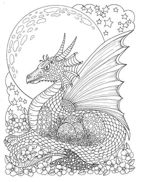 Beautiful Dragon Coloring Book