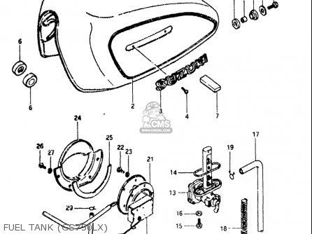 Suzuki Gs750 L 1980-1981 (usa) parts list partsmanual ...
