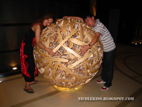me and ky on a wooden ball