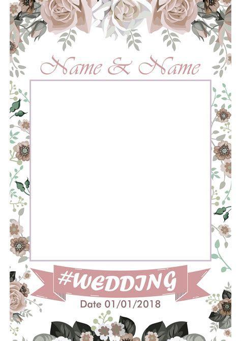 Wedding Photo Selfie Frame, Wedding Instagram Selfie Frame