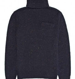 Reiss Specky Flecked Roll Neck Jumper Navy