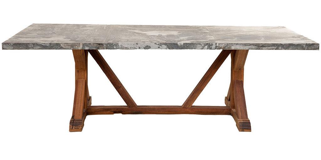 Zinc Top Dining Table - Jaxon Home